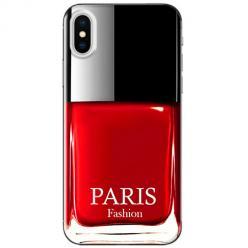Etui na telefon iPhone X - Czerwony lakier do paznokci