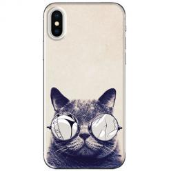 Etui na telefon iPhone XS Max - Kot w okularach