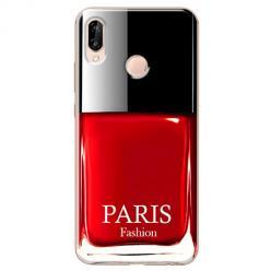 Etui na Huawei P20 Lite - Czerwony lakier do paznokci
