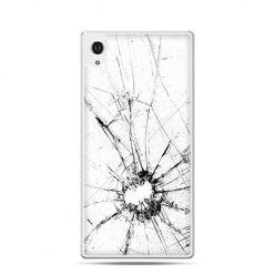 Rozbita szyba etui z nadrukiem dla Xperia Z2
