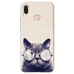 Etui na Huawei P20 Lite - Kot w okularach