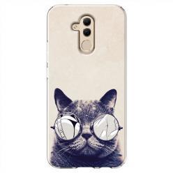 Etui na Huawei Mate 20 Lite - Kot w okularach