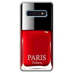 Etui na Samsung Galaxy S10 - Czerwony lakier do paznokci