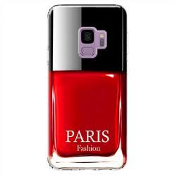 Etui na Samsung Galaxy S9 - Czerwony lakier do paznokci