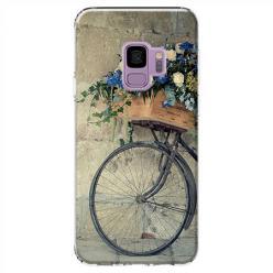 Etui na Samsung Galaxy S9 - Rower z kwiatami