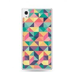 Kolorowe trójkąty etui z nadrukiem dla Xperia Z2