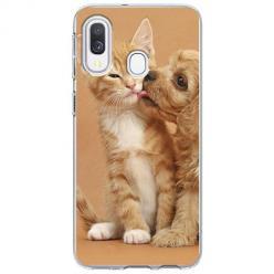 Etui na Samsung Galaxy A20e - Jak pies z kotem