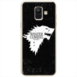 Etui na Samsung Galaxy A8 2018 - Winter is coming White