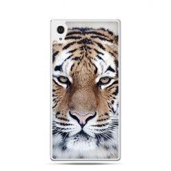Śnieżny tygrys etui z nadrukiem dla Xperia Z2