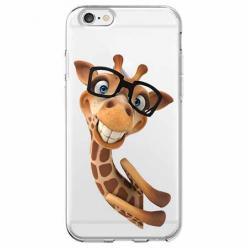 Etui na iPhone 6 Plus - Wesoła żyrafa w okularach.