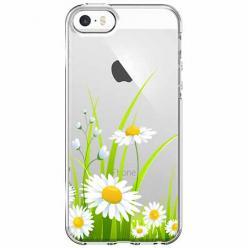 Etui na iPhone 5 , 5s - Polne stokrotki.