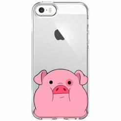 Etui na iPhone 5 , 5s - Słodka różowa świnka.