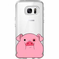 Etui na Galaxy S6 Edge - Słodka różowa świnka.