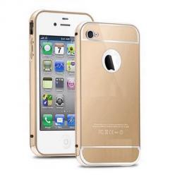 iPhone 5 / 5s etui aluminium bumper case złoty - super trwały