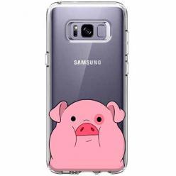 Etui na Galaxy S8 Plus - Słodka różowa świnka.