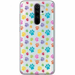 Etui na Xiaomi Redmi Note 8 Pro - Kolorowe psie łapki.