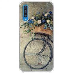 Etui na Samsung Galaxy A70 - Rower z kwiatami