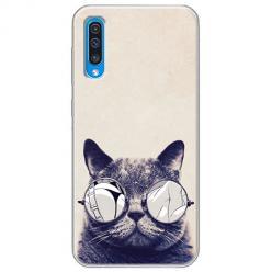 Etui na Samsung Galaxy A70 - Kot w okularach