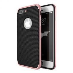 Etui na iPhone 8 Plus bumper Neo CARBON - Różowy
