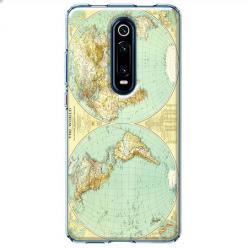 Etui na Xiaomi Mi 9T - Mapa świata