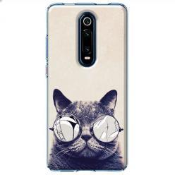 Etui na Xiaomi Mi 9T - Kot w okularach