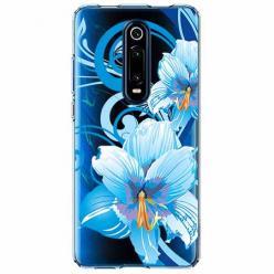 Etui na Xiaomi Mi 9T - Niebieski kwiat północy.