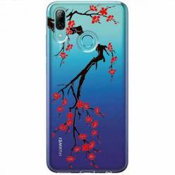 Etui na Huawei P Smart Z - Krzew kwitnącej wiśni.