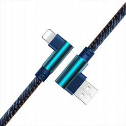 Kabel Lightning iPhone Szybkie ładowanie  Angle 90° 2m - Jeans