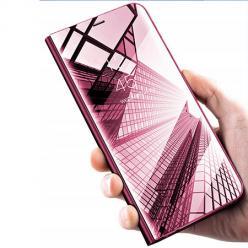 Etui na Huawei Nova 5T - Flip Clear View z klapką - Różowy