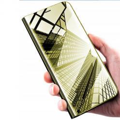 Etui na Xiaomi Mi 9 Lite - Flip Clear View z klapką - Złoty
