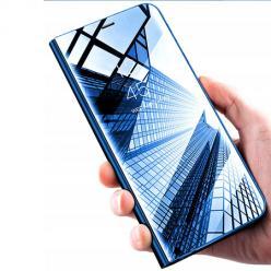Etui na Xiaomi Mi 9 Lite - Flip Clear View z klapką - Niebieski