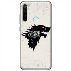 Etui na Xiaomi Redmi Note 8T - Winter is coming Black