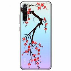 Etui na Xiaomi Redmi Note 8T - Krzew kwitnącej wiśni.