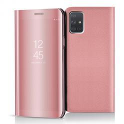 Etui na Samsung Galaxy A71 - Flip Clear View z klapką - Różowy.