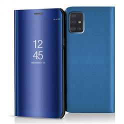 Etui na Samsung Galaxy A51 - Flip Clear View z klapką - Niebieski.