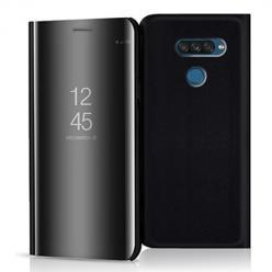 Etui na LG K50s - Flip Clear View z klapką - Czarny.
