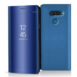 Etui na LG K50s - Flip Clear View z klapką - Niebieski.