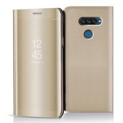Etui na LG K50s - Flip Clear View z klapką - Złoty.